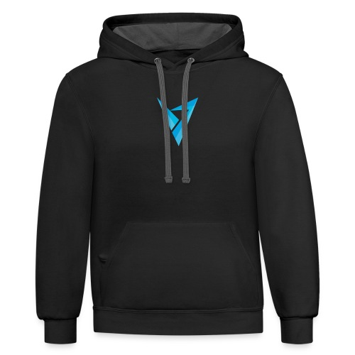 v logo - Contrast Hoodie