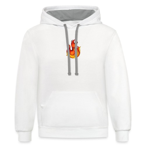 Scorchy White Logo - Contrast Hoodie