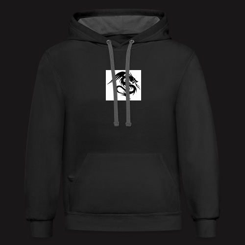 Dragon with stealth - Contrast Hoodie