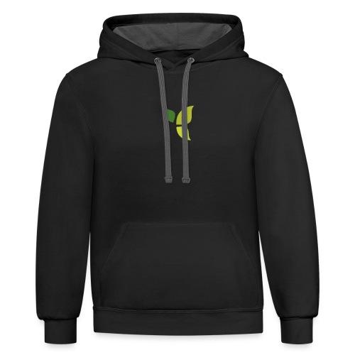 Dom Gooden Leaf Logo - Unisex Contrast Hoodie