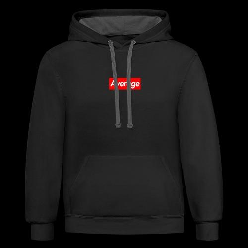 Average Supreme Logo Mockup - Contrast Hoodie