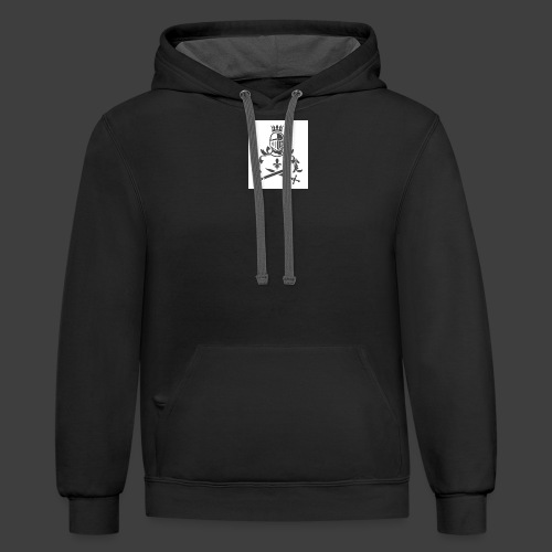 KNIGHT WITH SWORDS - Contrast Hoodie