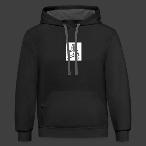 KNIGHT WITH SWORDS - Unisex Contrast Hoodie