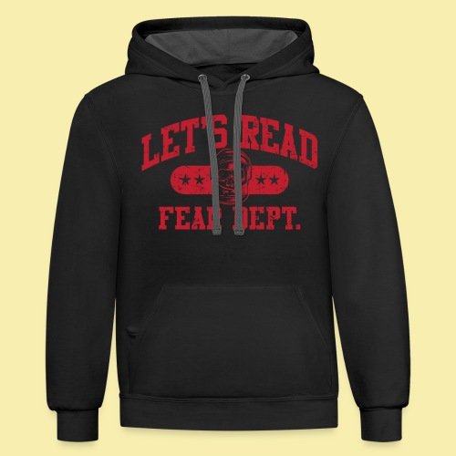 Fear Dept - Athletic Red - Inverted - Contrast Hoodie