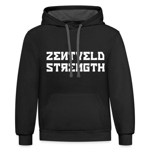 ZENTVELD STRENGTH - Unisex Contrast Hoodie