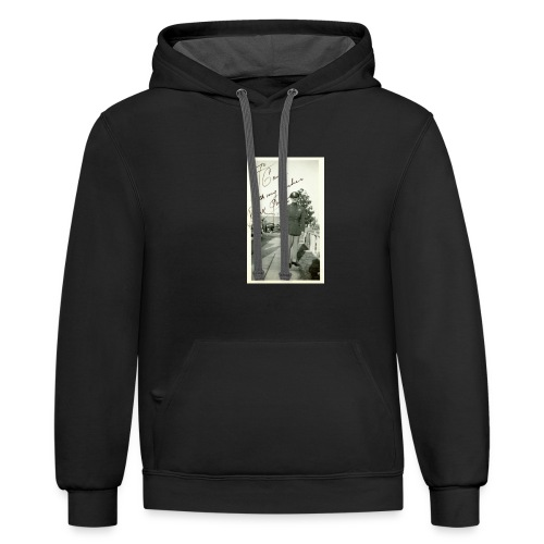 clark gable in uniform ww2 large photo - Unisex Contrast Hoodie