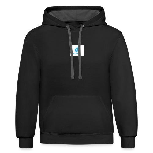 dj sterny logo - Contrast Hoodie