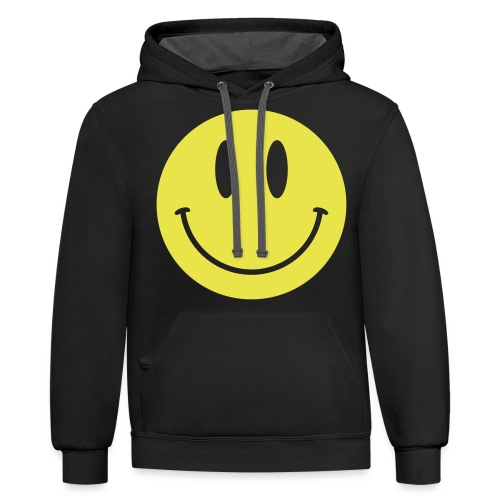 Smiley - Unisex Contrast Hoodie