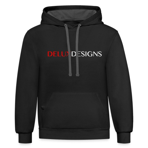 Delux Designs (white) - Unisex Contrast Hoodie