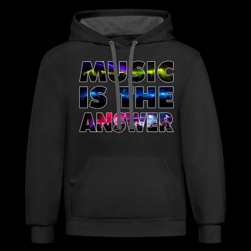 Music Is The Answer - Unisex Contrast Hoodie