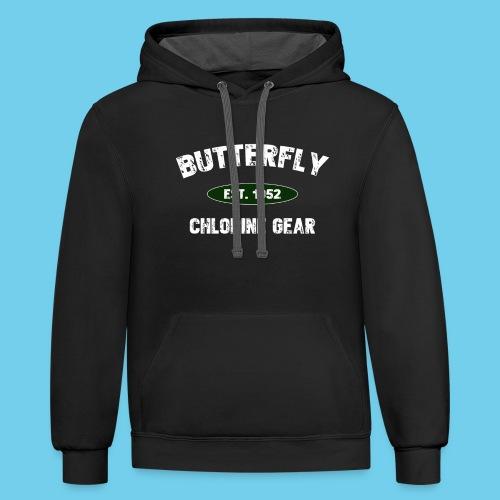 Butterfly est 1952-M - Unisex Contrast Hoodie