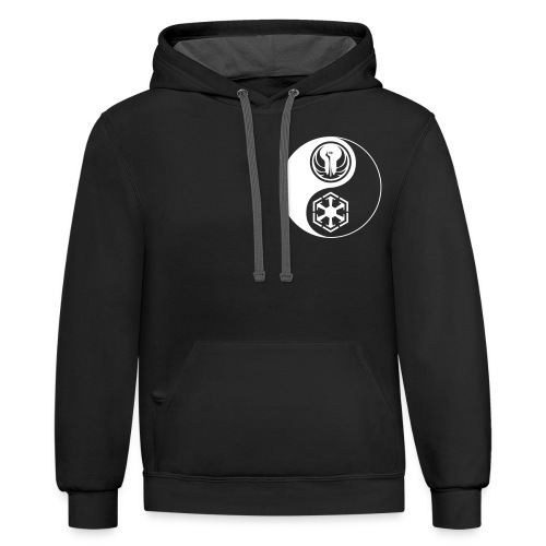 Star Wars SWTOR Yin Yang 1-Color Light - Unisex Contrast Hoodie