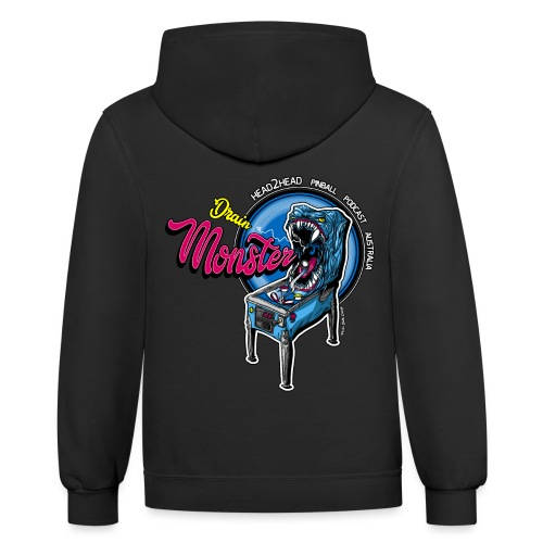 H2H Drain Monster Collection - Unisex Contrast Hoodie
