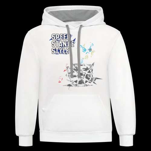 Gas Mask Girl Color - Contrast Hoodie