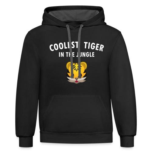 Coolest Tiger Hoodie - Contrast Hoodie