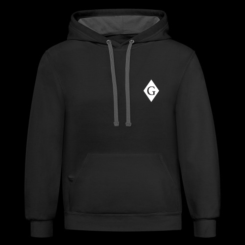 Glenester Black on White Diamond - Unisex Contrast Hoodie