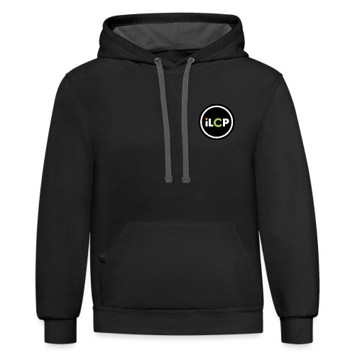 iLCP logo circle - Unisex Contrast Hoodie