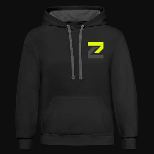 team Zecro official logo - Unisex Contrast Hoodie