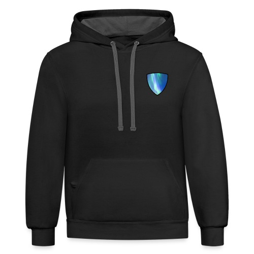 Aurora Intel shield without text - Contrast Hoodie
