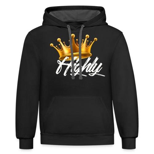 Highly Crown Print - Contrast Hoodie