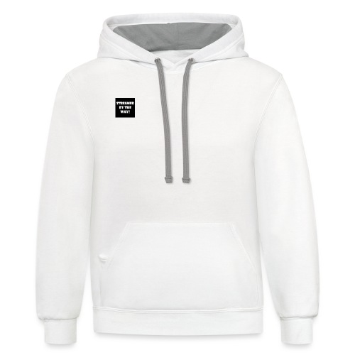 STREAMER BY THE WAY! - Contrast Hoodie