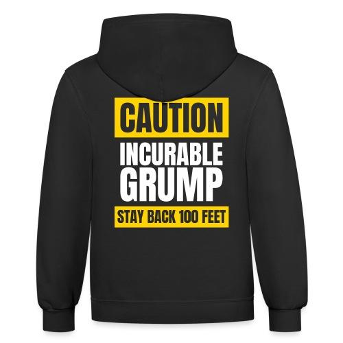 Incurable Grump US Version - With Team Grump Badge - Contrast Hoodie