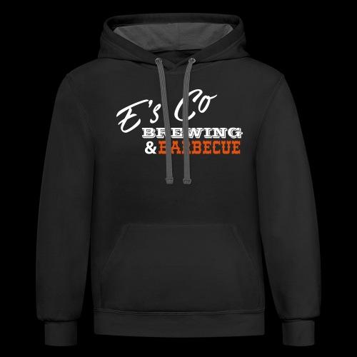 Es Co Brewing BBQ White - Unisex Contrast Hoodie