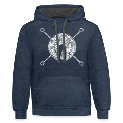 Shad0w Synd1cate Word Cloud (White logo) - Contrast Hoodie
