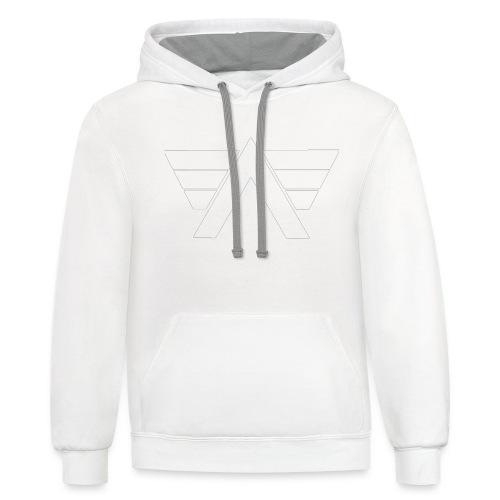 Bordeaux Sweater White AeRo Logo - Contrast Hoodie