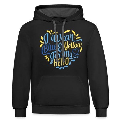 Blue & Yellow - Contrast Hoodie