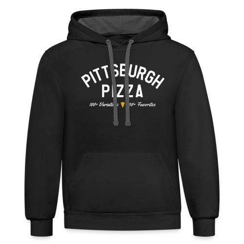 Pittsburgh Pizza - Contrast Hoodie