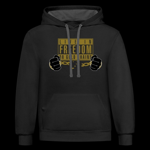 Live Free - Unisex Contrast Hoodie