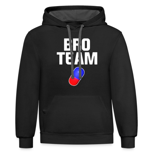 Bro Team White Words Logo Women's T-Shirts - Unisex Contrast Hoodie