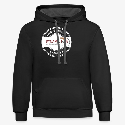Dynamic Tape Correct-Protect-Perform White circle - Contrast Hoodie