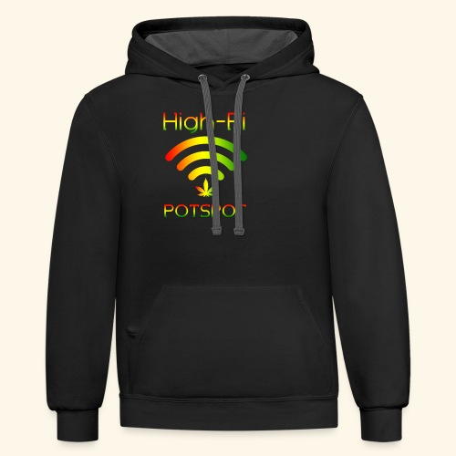 High-Fi Potspot - Weed Wlan - Cannabis Network - Contrast Hoodie