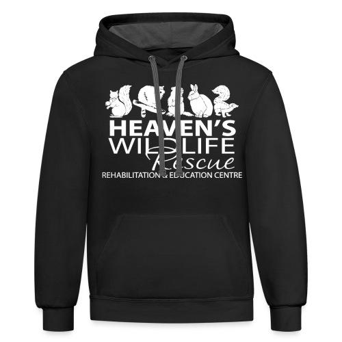HWR White - Contrast Hoodie
