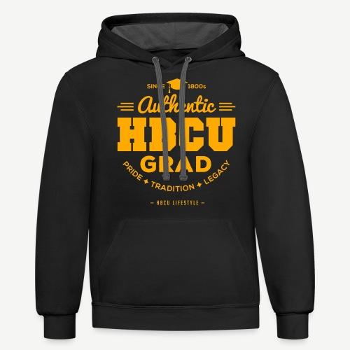 Authentic HBCU Grad - Contrast Hoodie