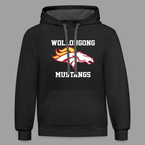 Mustangs Logo White - Contrast Hoodie