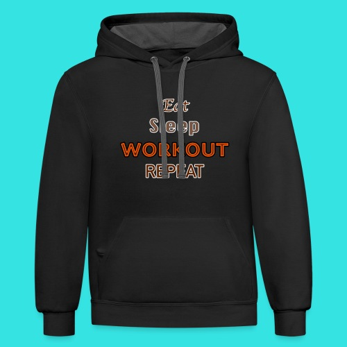 Workout - Contrast Hoodie