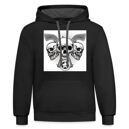 Skulls - Contrast Hoodie