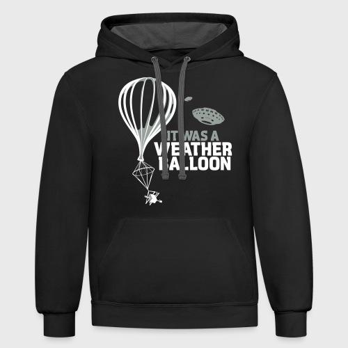 Weather Balloon UFO - Unisex Contrast Hoodie