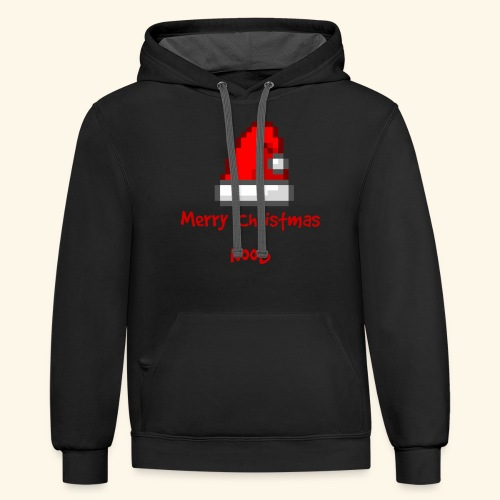 Gamer Merry Christmas Noob Santa Hate - Contrast Hoodie