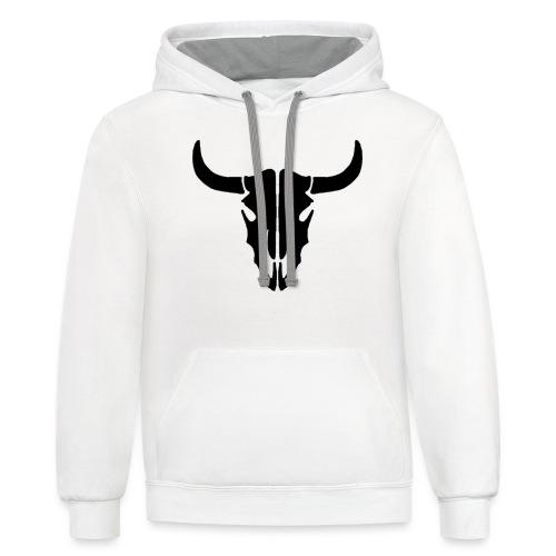 Longhorn skull - Contrast Hoodie