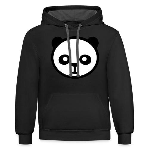 Panda bear, Big panda, Giant panda, Bamboo bear - Unisex Contrast Hoodie