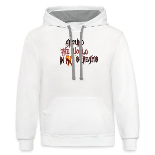 Around The World in 80 Screams - Contrast Hoodie