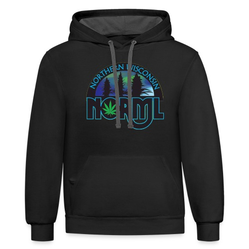 Northern Wisconsin NORML Official Logo - Unisex Contrast Hoodie