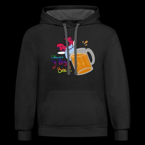 Catbug - Where's my big ol' beer - Unisex Contrast Hoodie