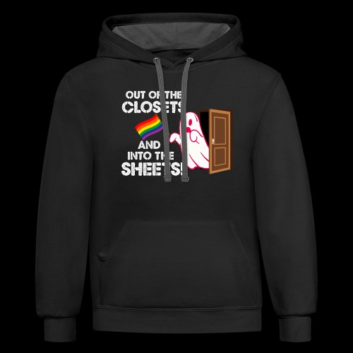 Out of the Closets Pride Ghost - Contrast Hoodie