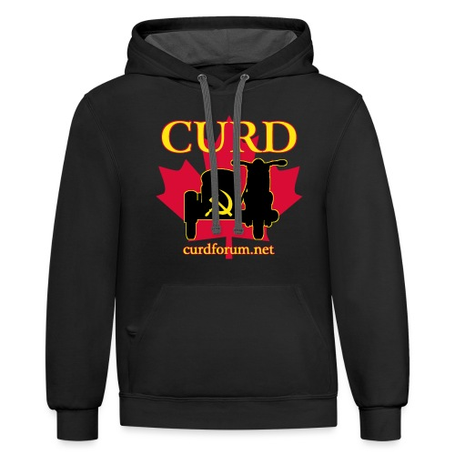 CURD curdforum - Unisex Contrast Hoodie