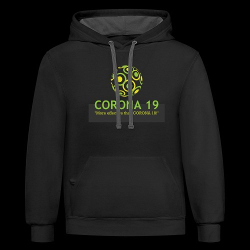 CORONA VIRUS 19 - Unisex Contrast Hoodie